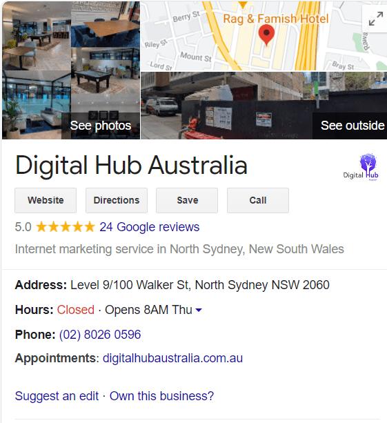 Google my business listing |  Best digital marketing agency in sydney